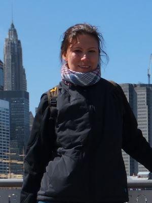 Nina reist gerne. Dieses Bild entstand 2012 in New York City.